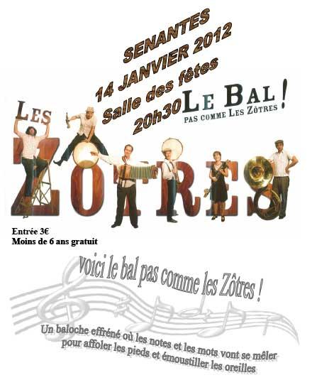 Bal folk le bal pas comme les zôtres samedi 14 janvier à Senantes (60650)